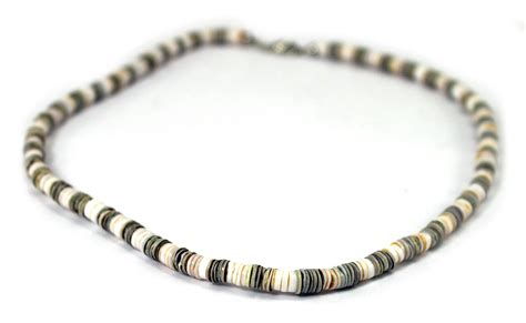 puka shell necklace surfer choker bead clasp