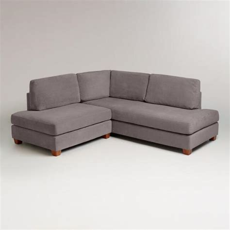 Wyatt Sectional Sofa by Charcoal Wyatt Sectional Sofa World Market