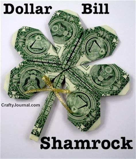 Money Origami Shamrock - dollar bill shamrock
