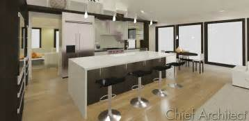 Kitchen Islands Table 3 five 12 kitchen waterfall island youtube