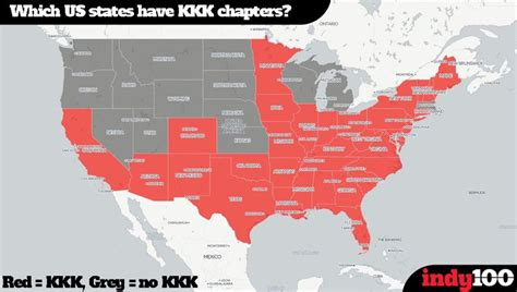 is the kkk active in your state hint the answer is map the scary number of us states that still have an