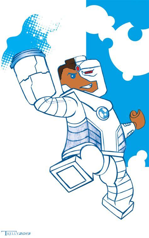 lego cyborg coloring page lego cyborg by artist tom kelly by tomkellyart on deviantart
