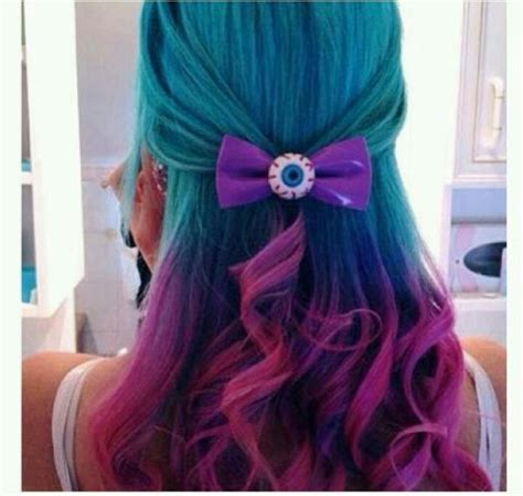 blue purple pink ombre hair geeky hair makeup ideas my hair pink hair and cheer