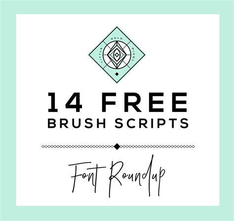 Brush Script 14 free brush script fonts gold pixel