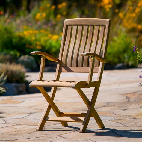 napa folding arm chair teak outdoor furniture terra patio