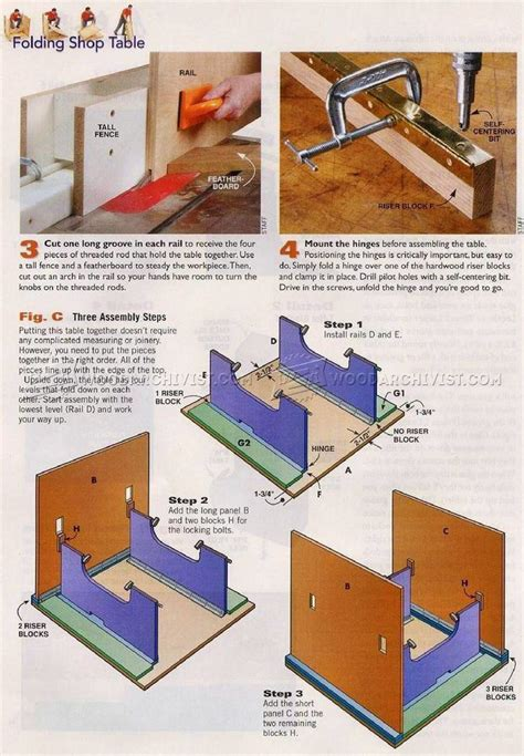 diy folding work table woodarchivist