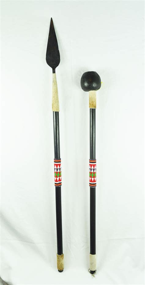 tom jackson spear a spear assegai and ball club knob kerrie usually