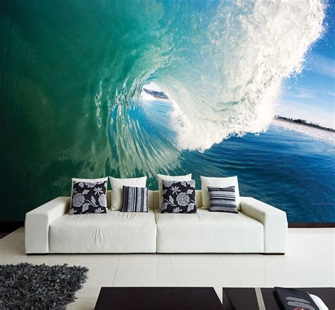 Surf Wall Murals wall removable sticker ocean perfect wave sea water vinyl