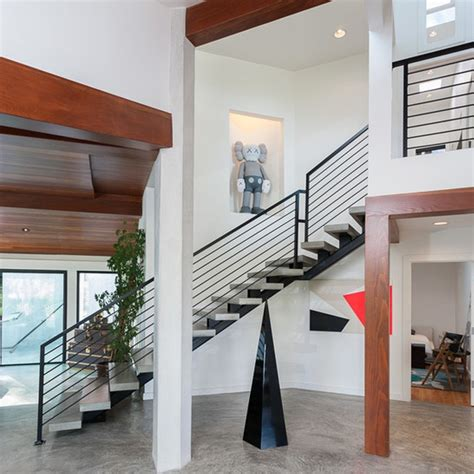 barandilla transparente para indoor escalera transparente removible de acero