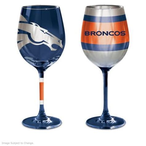 Wine Glasses Denver Denver Broncos Wine Glass Collection At Beautiful Items