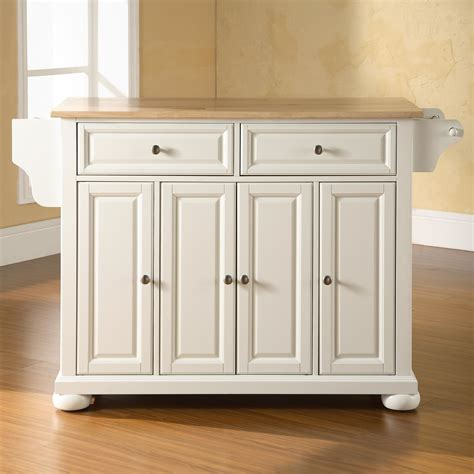 kitchen furniture island darby home co pottstown kitchen island with wood top