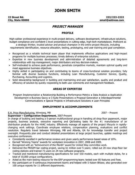 Technology Project Manager Resume by 17 Best Images About Information Technology It Resume