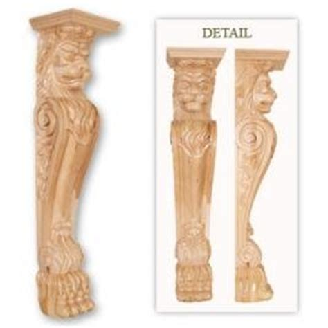 Cheap Corbels For Sale 49 1 2 H X 11 W X 10 1 2 D Carved Wood