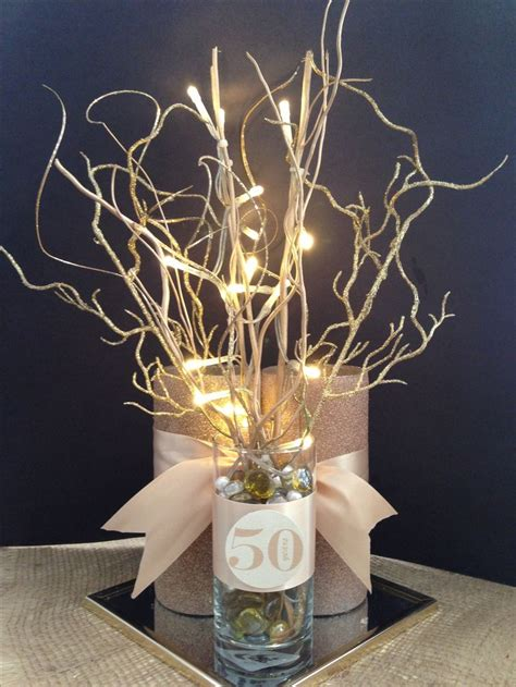 centerpieces for 50th birthday anniversary 50th centerpiece dads 50th anniversary