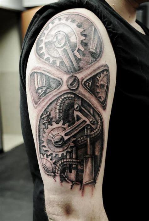 tatouage rouage tatouage biom 233 canique sur