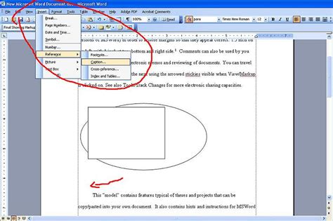 using cross reference in ms word