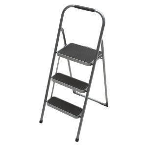 Home Depot Step Stool by Easy Reach By Gorilla Ladders 3 Step Steel High Back Step Stool Ladder With 200 Lb Load