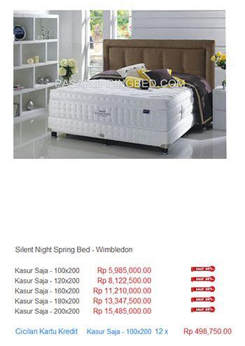 Kasur Bed Medan kasur silent harga bed termurah di indonesia