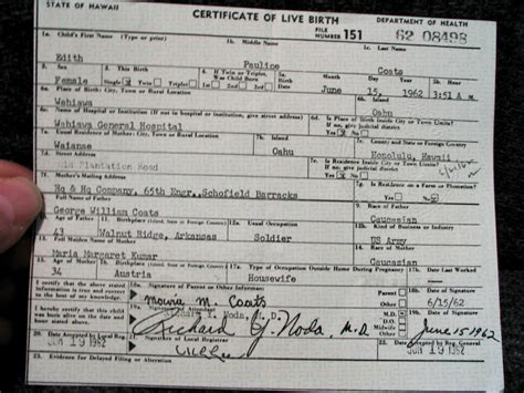 Hawaii Birth Certificate Records There And Then There S Birther Page 5