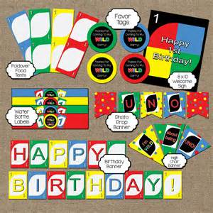 uno theme first birthday party decoration bundle by