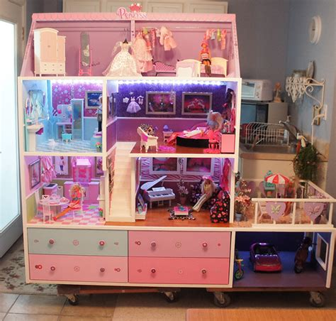 barbie doll house images barbie doll house completed lights camera and action flickr