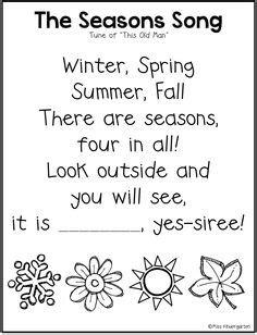 57 Seasons Preschool Theme ideas in 2021   seasons