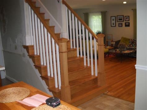 replacement stair banisters interior wood railings replace wood railings ashburn