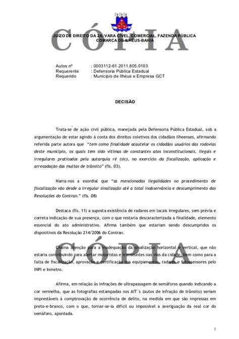 carta para transferencia de multa decisao acp transito suspende multas1