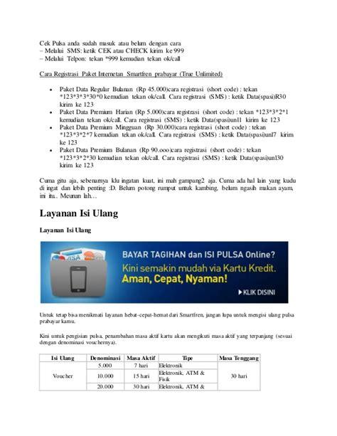 Isi Ulang Modem Smartfren cara isi ulang pulsa smartfren dan daftar paket