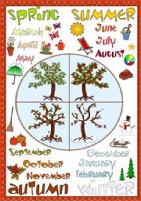 printable seasons poster esl kids worksheets seasons poster