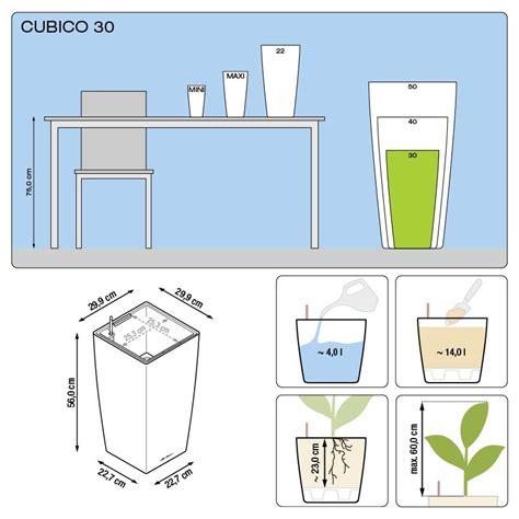 lechuza vasi vaso cubico premium 30 lechuza set completo dadolo