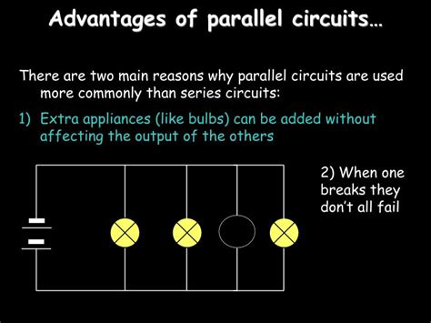 parallel circuits benefits ppt electricity powerpoint presentation id 7008919