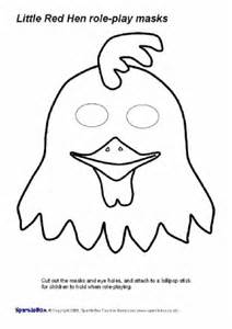 chicken mask template printable hen teaching resources story sack printables