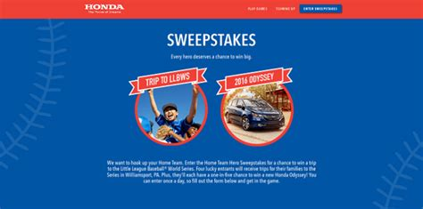 World Series Car Giveaway - honda rewards home team heroes with a new sweepstakes