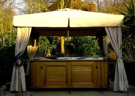 hot tub awnings hot tub with privacy for the home pinterest