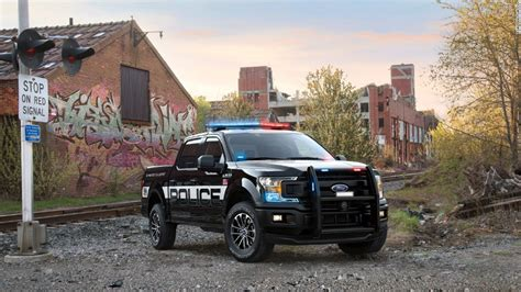 first truck ever ford reveals first ever f 150 police truck