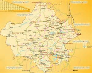 jaipur map rajasthan region in india map showing