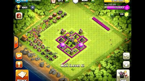 clash of clans town hall 6 setups th6 setups level 6 town hall defense farming www imgkid com the