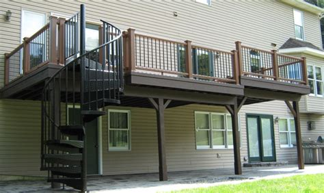 add stairs more storage plus patio and or garage house how to use your under deck patio salter spiral stair