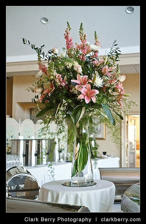 buffet table centerpiece flowers pinterest