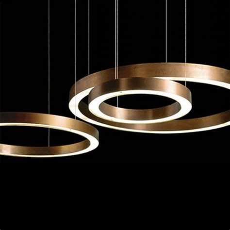 modern lighting modern copper ring led pendant lighting 10758 browse
