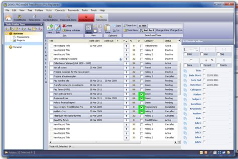 task organizer everything you need in one program treedbnotes pro