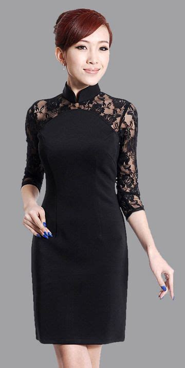 Modern Fashion Cheongsam Black 17 best images about modern cheongsam qipao on