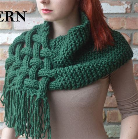 knitting patterns scarf pinterest knitting pattern for celtic woven scarf wishlist
