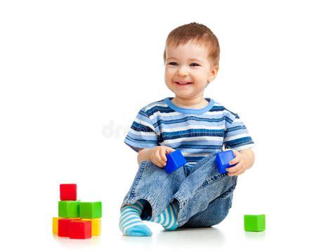 kid play car kid blocks stock photo image 24765366