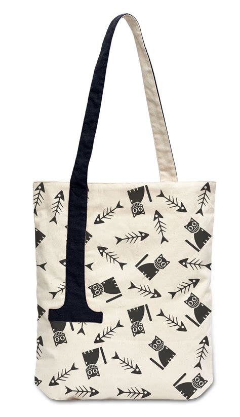 tote bag straps pattern cute animals pattern printed canvas shoulder tote bag with