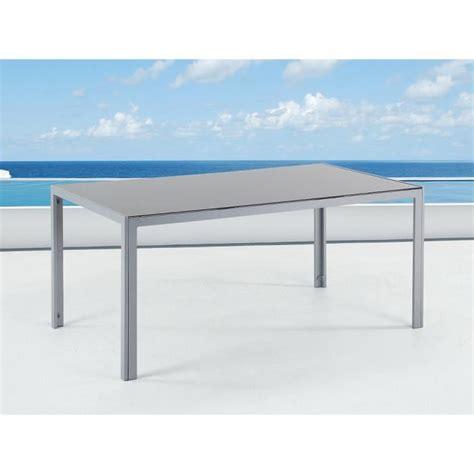 Table Aluminium Exterieur 319 by Table De Jardin Aluminium Plateau En Verre 160 Cm