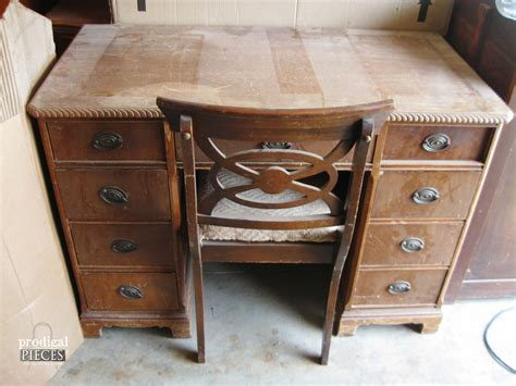 an antique desk makeover prodigal pieces
