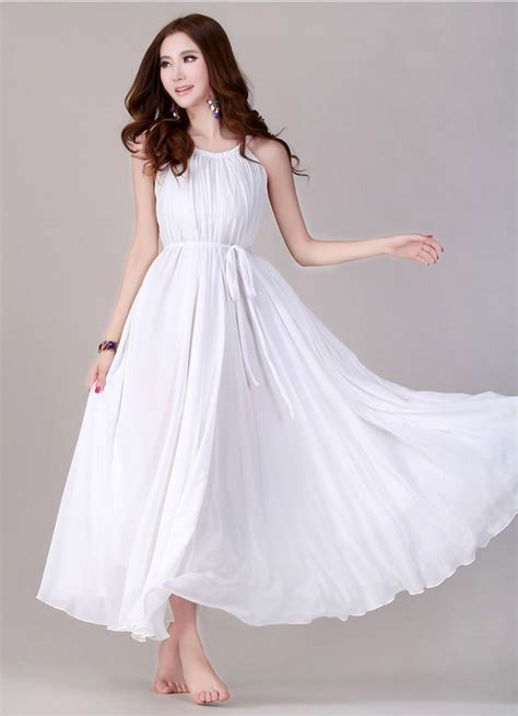 Longdress White white chiffon dress fashion dress trend 2017