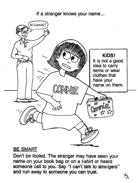 stranger danger coloring pages 23867 bestofcoloring com